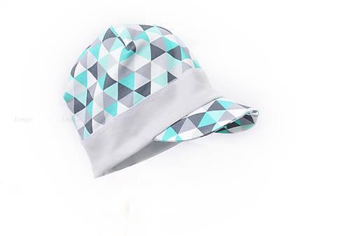 Šiltovka Triangle mint   lemge - SAShE.sk - Handmade Detské čiapky d9a4bad33ab