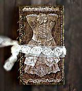 """Papiernictvo - Luxusný vintage diár 2021 -Denník vznešenej dámy """"V čipkách"""" - 9350720_"""