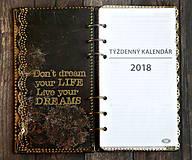 """Papiernictvo - Luxusný vintage diár 2021 -Denník vznešenej dámy """"V čipkách"""" - 9350729_"""