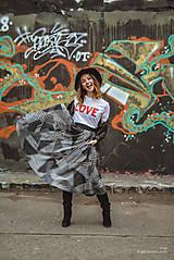 Maxi sukňa šedá
