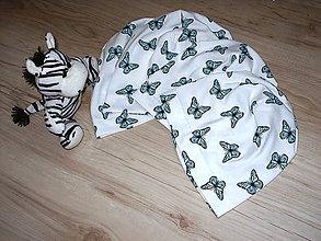Detské čiapky - čiapočka motýliky - 9347946_