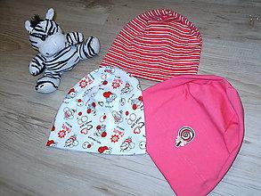 Detské čiapky - čiapočky súprava pre dievčatko - 9350159_