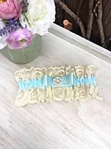 Vintage svadobný podväzok ivory