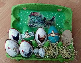 Dekorácie - Veľkonočná dekorácia s vajīčkami - 9348738_