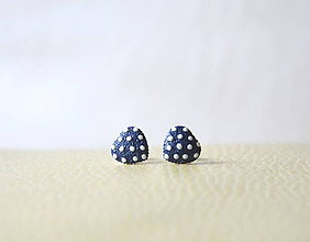 Náušnice - Mini srdiečka modré - 9354941_