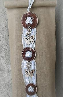Dekorácie - Gombíková nálada s motýlikmi - 9354326_