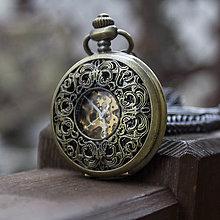 Iné - Mechanické vreckové hodinky s krúžkovanou reťazou (28) - 9355308_