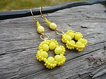 - Náušnice Žlté kvetiny na prianie - 9352984_