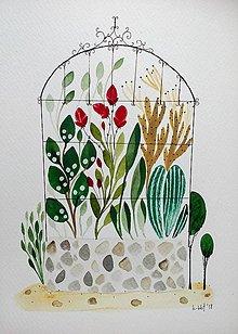 Obrazy - Skleník ilustrácia  / originál maľba - 9353336_