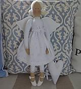 Bábiky - Anjel biely madeirový - 9353807_