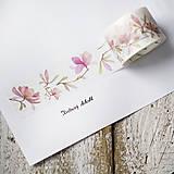 Washi pásky Jarné 3 cm x 8 m (Washi páska Magnólia v rozkvete)