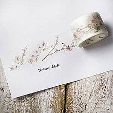 Papier - Washi pásky Jarné 3 cm x 8 m - 9353509_