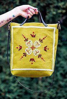Veľké tašky - Vyšívaná taška Vesna - 9355484_