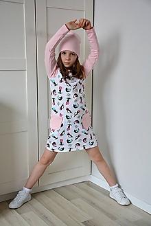 Detské oblečenie - Maia teplákové šaty Cats - 9352492_