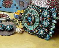 Sady šperkov - Kishanpole Bazar - vyšívaný set - 9353364_