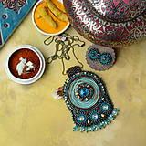 Sady šperkov - Kishanpole Bazar - vyšívaný set - 9353365_
