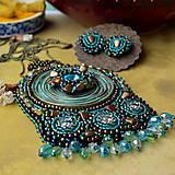 Sady šperkov - Kishanpole Bazar - vyšívaný set - 9353366_