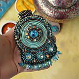 Sady šperkov - Kishanpole Bazar - vyšívaný set - 9353367_