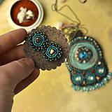 Sady šperkov - Kishanpole Bazar - vyšívaný set - 9353368_