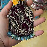 Sady šperkov - Kishanpole Bazar - vyšívaný set - 9353369_