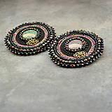 Odznaky/Brošne - Black&violet - vyšívaná brož - 9354245_