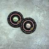 Odznaky/Brošne - Black&violet - vyšívaná brož - 9354247_