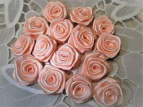 Iné doplnky - Saténové ružičky priemer 2,5cm - 9354475_