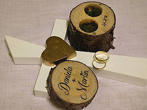 Prstene - svadobný set: krabička na prstienky + svadobný kríž - 9351868_