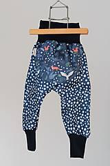 "Detské oblečenie - Plátené nohavice ""nočný les"" - 9355458_"