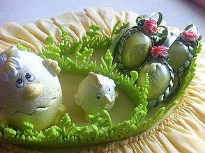Dekorácie - Veľkonočné vajíčko pierkové - žlté - 9354339_