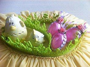 Dekorácie - Veľkonočné vajíčko pierkové - 9354456_