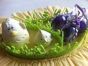 Dekorácie - Veľkonočné vajíčko pierkové  (Fialová) - 9354476_