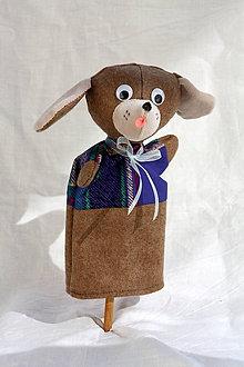 Hračky - Maňuška. Zvieratko Pes Pantoflík - 9353506_