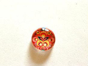 Komponenty - cerveny folk kvet 14mm - 9351849_