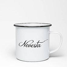 Nádoby - Smaltovaný hrnček Nevesta - 9354860_