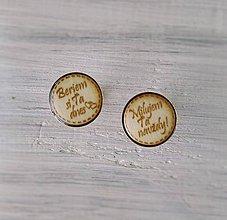 Šperky - Manžetové gombíky s textom živicové (okrúhle strieborné) - 9354548_