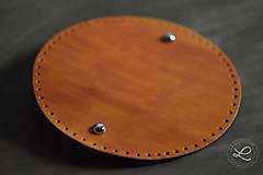 Iný materiál - Kožené dno - kulaté polotovar - 9351880_