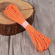 Galantéria - Papierové lanko (Oranžová) - 9355505_