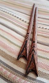 Ozdoby do vlasov - Ihlice do vlasov z mahagónu III. - 9354403_