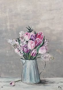 Obrazy - v tulipanovom /70x50/ - 9353533_