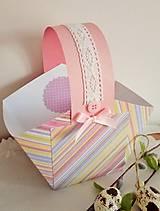 Papiernictvo - veľkonočný papierový košík - 9353746_