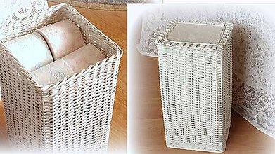 Košíky - Kôš na na toaletný papier na 16 ks  (21 x 25 v 50 - Hnedá) - 9353249_
