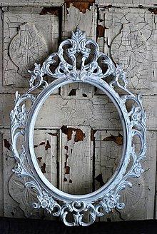Rámiky - Barokový rám so striebornou patinou - 9352091_