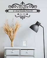 Nálepky na stenu - Vlastný rodinný ornament