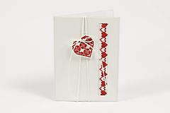 Papiernictvo - Zamilované srdiečka III - folk vyšívaný pozdrav - 9353790_