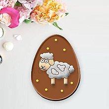 Grafika - Grafické čokoládové veľkonočné vajíčko puntíky - 9354600_