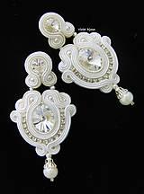 Náušnice - White & Ivory Wedding - 9358379_