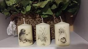 Svietidlá a sviečky - Veľkonočné sviečky - 9359266_