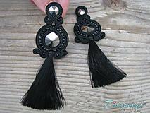 Black collection with tassels...soutache (Black/Hematite-rivoli)
