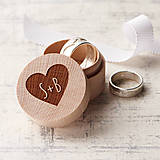 Prstene - Mini krabička na obrúčky - 9357040_